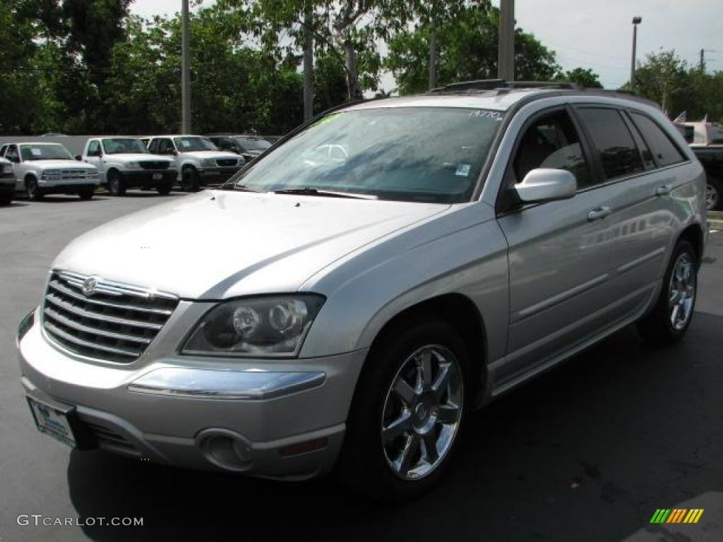 bright silver metallic 2005 chrysler pacifica limited awd exterior photo 49126835. Black Bedroom Furniture Sets. Home Design Ideas