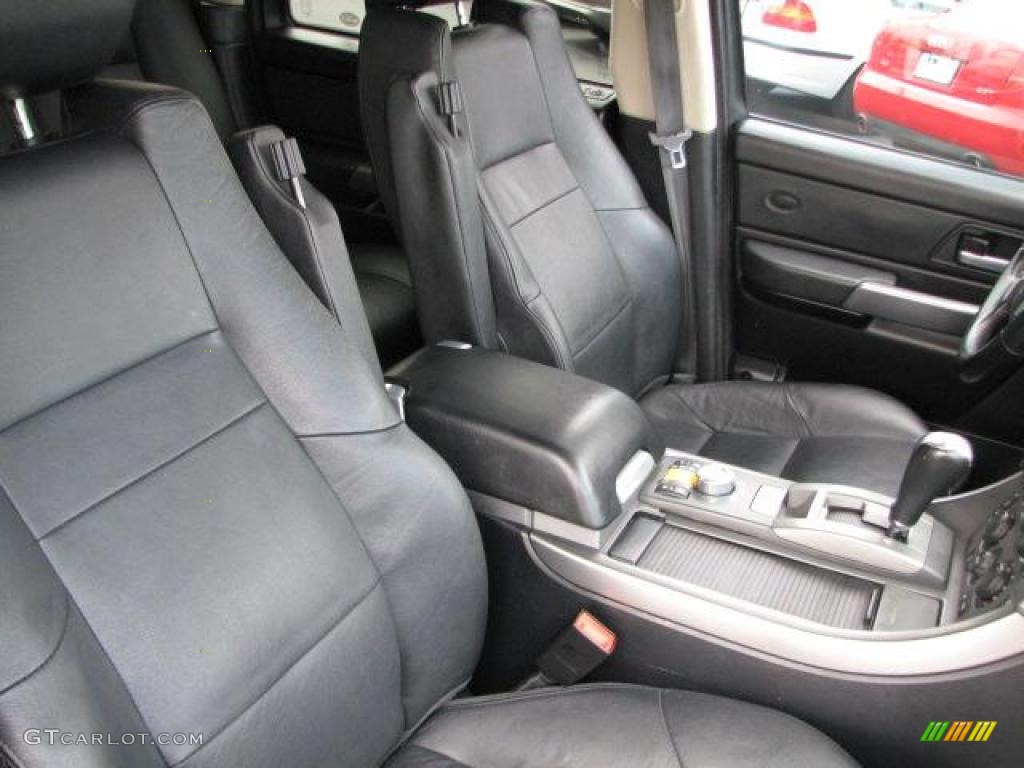 Ebony Black Interior 2007 Land Rover Range Rover Sport Hse Photo 49129328