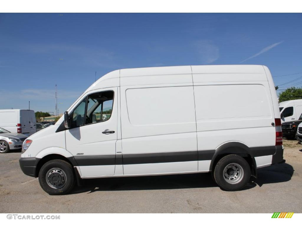 Arctic white 2011 mercedes benz sprinter 3500 high roof for Mercedes benz 3500 sprinter