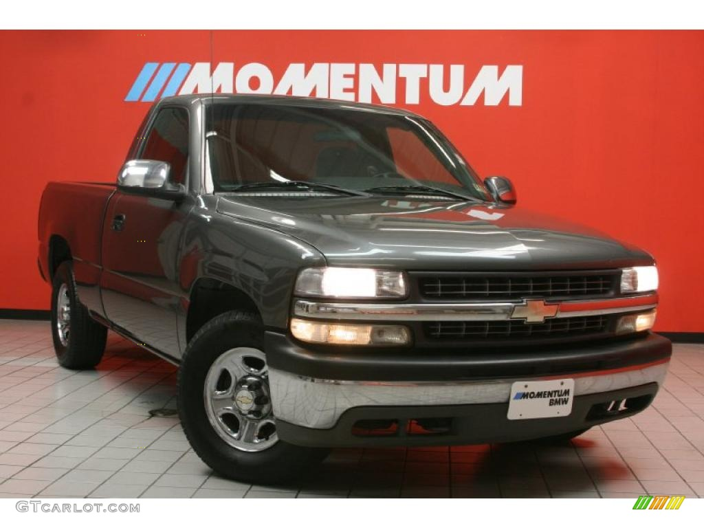 2002 Silverado 1500 LS Regular Cab - Medium Charcoal Gray Metallic / Graphite Gray photo #1