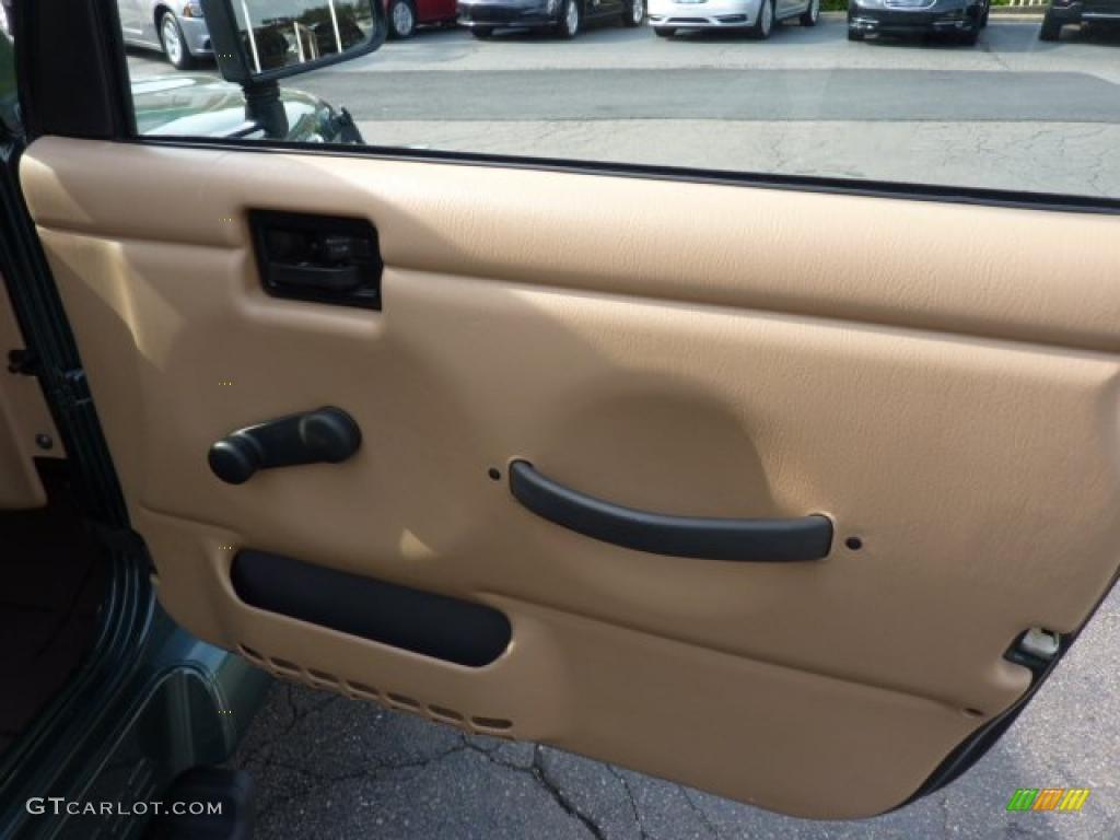 2002 Jeep Wrangler Sahara 4x4 Camel Beige Dark Green Door