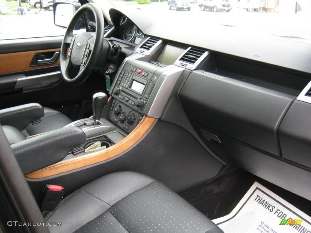 Ebony Black Interior 2006 Land Rover Range Rover Sport Supercharged Photo 49194147
