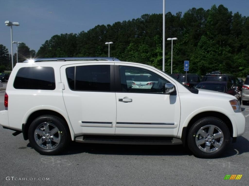 Blizzard White 2011 Nissan Armada Platinum Exterior Photo #49199021