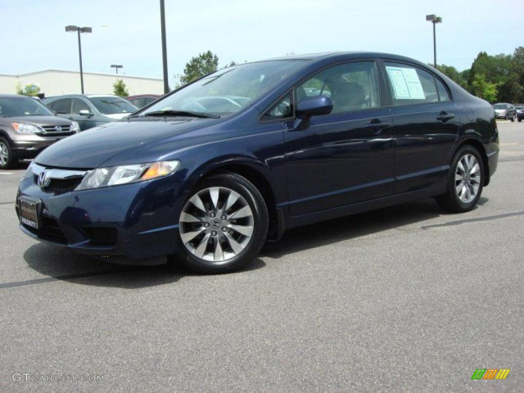 royal blue pearl 2009 honda civic ex sedan exterior photo 49212029. Black Bedroom Furniture Sets. Home Design Ideas