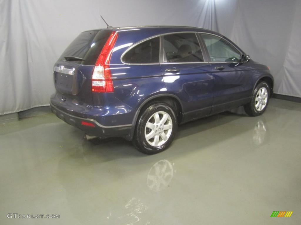 2008 CR-V EX 4WD - Royal Blue Pearl / Gray photo #9