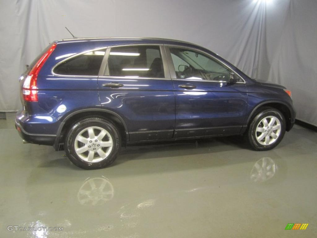 2008 CR-V EX 4WD - Royal Blue Pearl / Gray photo #11