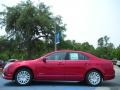 2011 Red Candy Metallic Ford Fusion Hybrid  photo #2