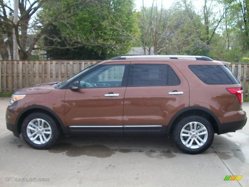 golden bronze metallic 2011 ford explorer xlt exterior. Black Bedroom Furniture Sets. Home Design Ideas
