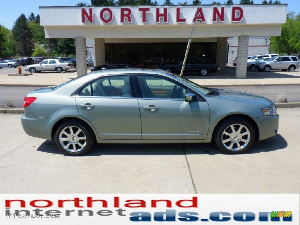 2008 MKZ AWD Sedan - Moss Green Metallic / Sand photo #1