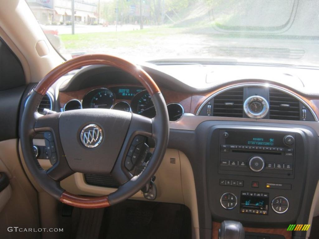 2008 Buick Enclave CX AWD Cashmere/Cocoa Dashboard Photo #49282304