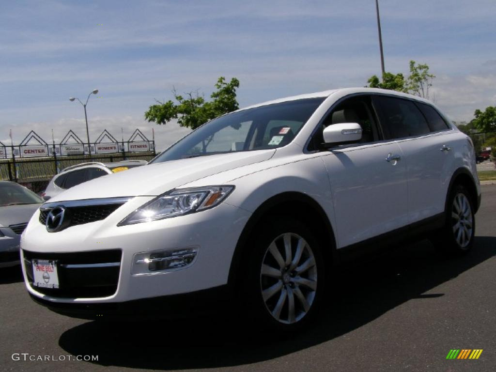 2008 crystal white pearl mica mazda cx 9 grand touring. Black Bedroom Furniture Sets. Home Design Ideas