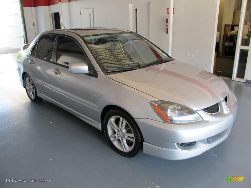 Cool Silver Metallic 2005 Mitsubishi Lancer RALLIART Exterior