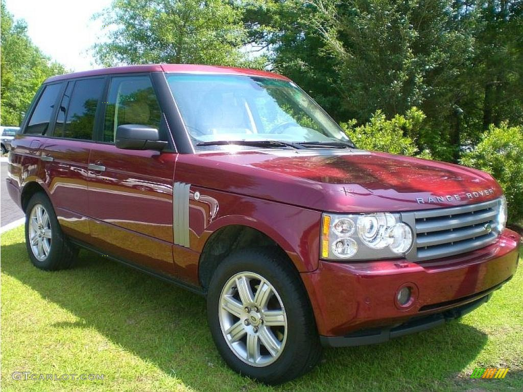 2006 alviston red mica land rover range rover hse. Black Bedroom Furniture Sets. Home Design Ideas