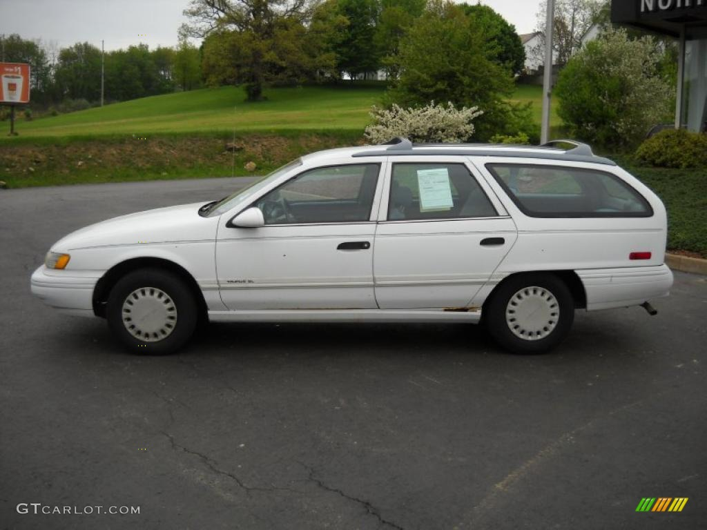 performance white 1993 ford taurus gl wagon exterior photo. Black Bedroom Furniture Sets. Home Design Ideas