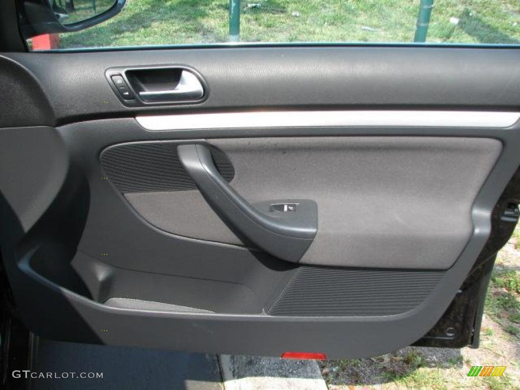 2006 Volkswagen Jetta Gli Sedan Interlagos Plaid Cloth Door Panel Photo 49346550