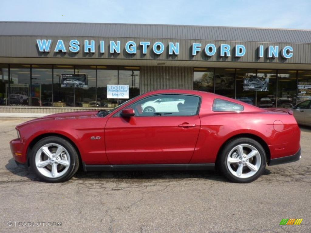 2011 Mustang GT Coupe - Red Candy Metallic / Charcoal Black photo #1