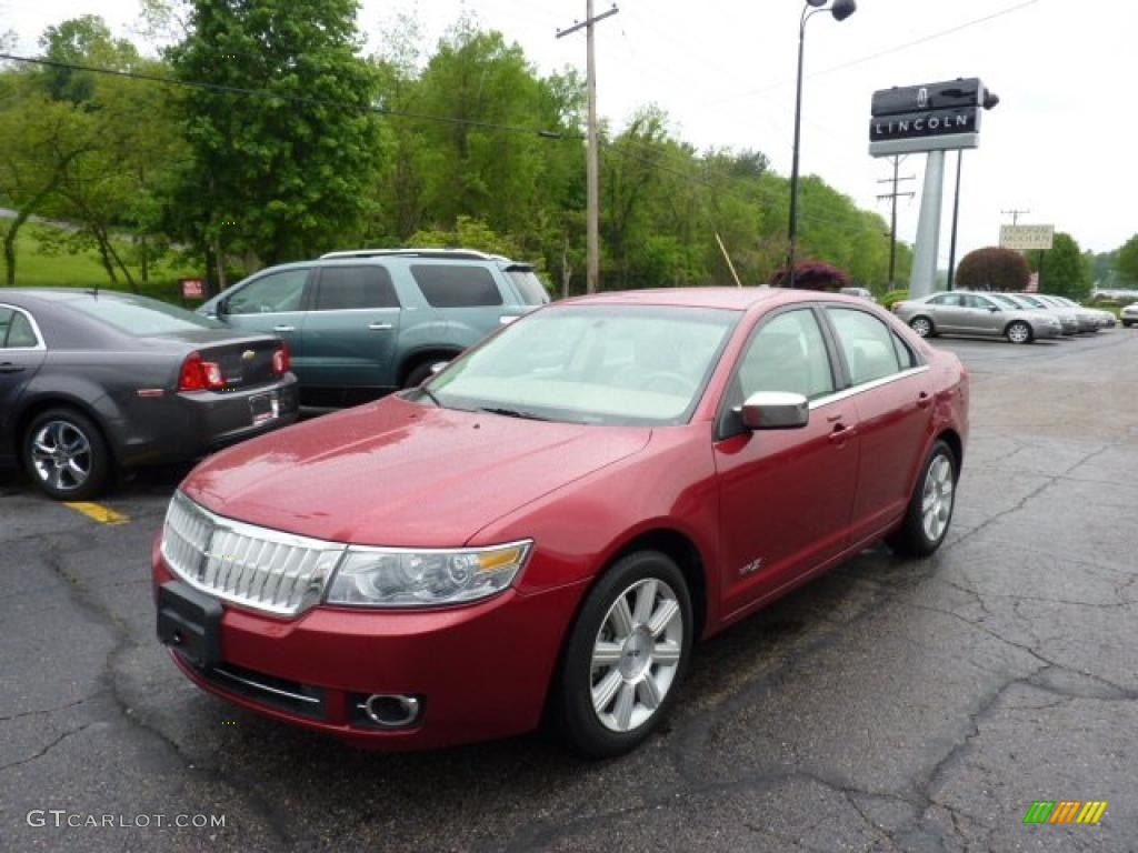 2008 MKZ Sedan - Vivid Red Metallic / Sand photo #1