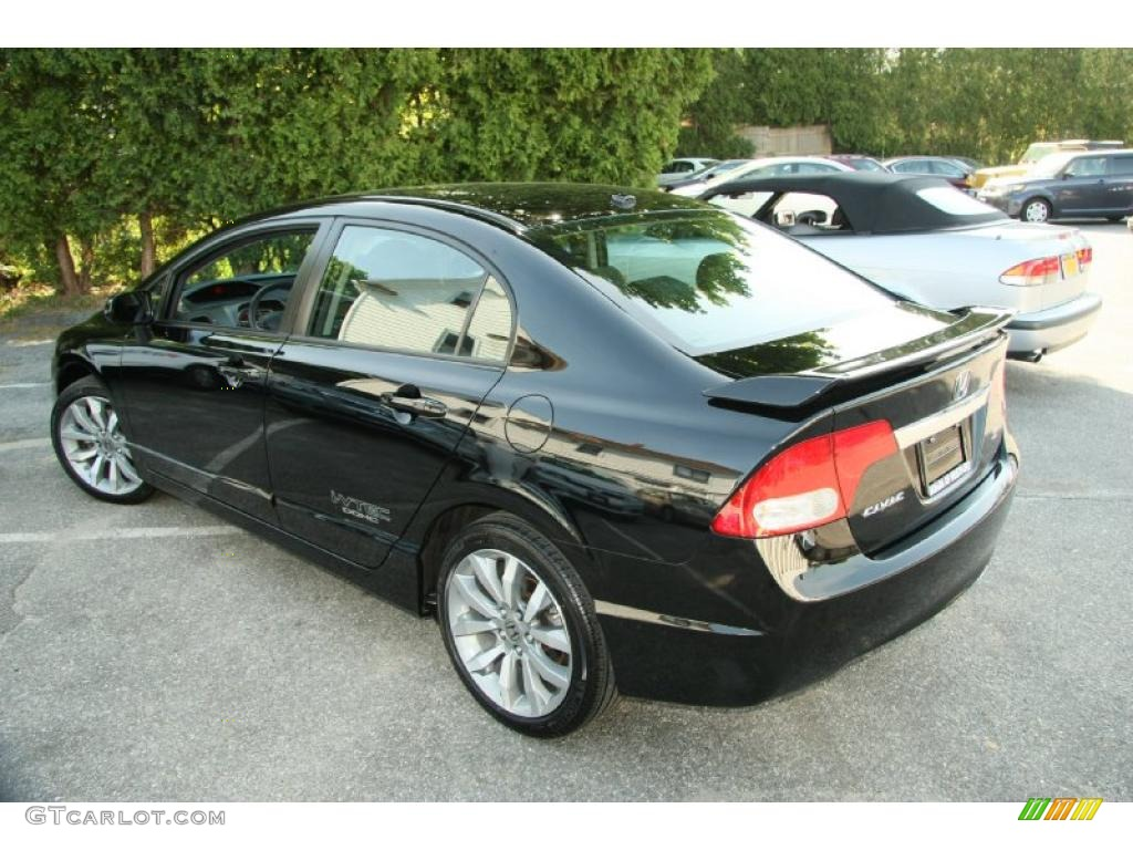 crystal black pearl 2010 honda civic si sedan exterior
