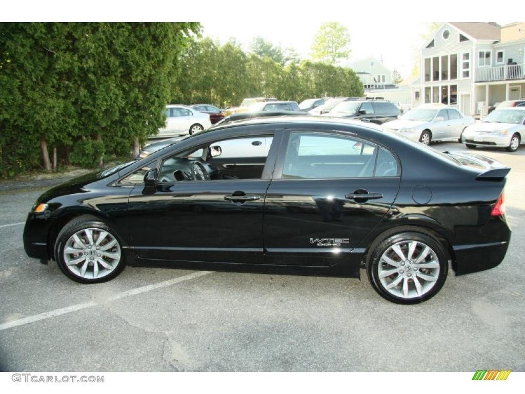 Crystal Black Pearl 2010 Honda Civic Si Sedan Exterior Photo 49378004 Gtcarlot Com