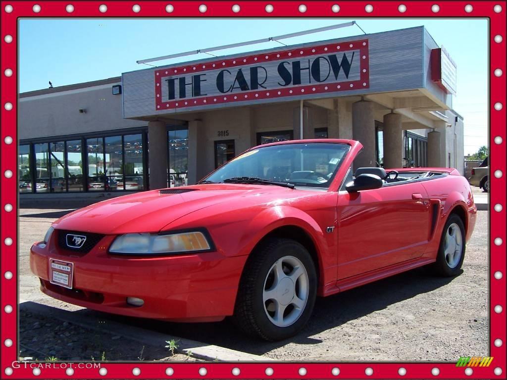 2000 Mustang GT Convertible - Performance Red / Medium Graphite photo #1