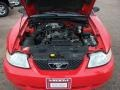 2000 Performance Red Ford Mustang GT Convertible  photo #31