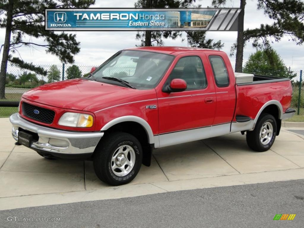 1997 bright red ford f150 xlt extended cab 4x4 49390700. Black Bedroom Furniture Sets. Home Design Ideas