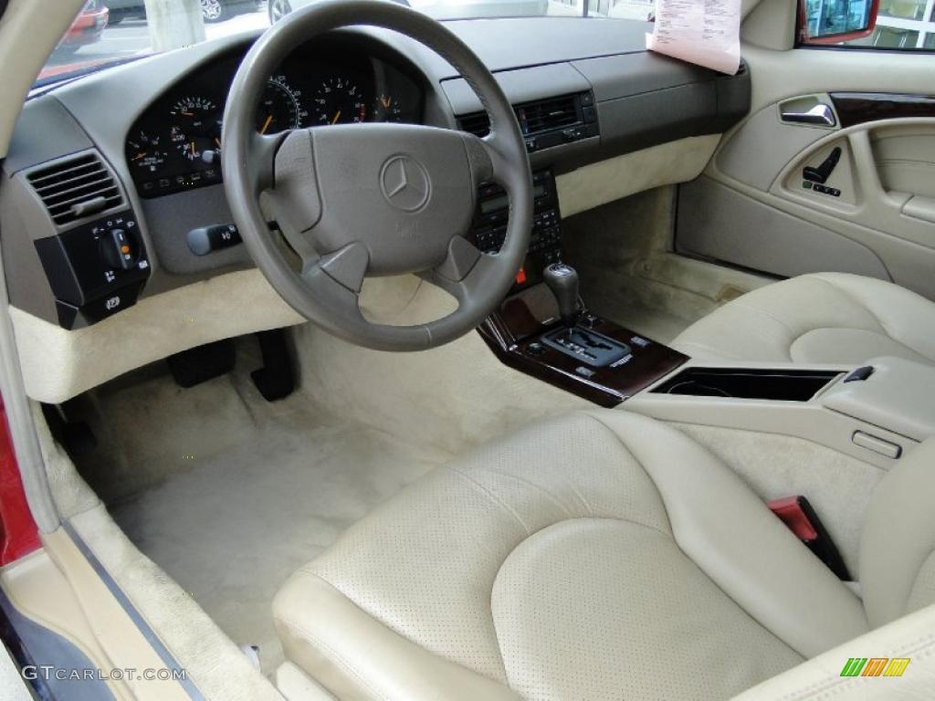 parchment beige interior 1997 mercedes benz sl 500 roadster photo 49397036. Black Bedroom Furniture Sets. Home Design Ideas
