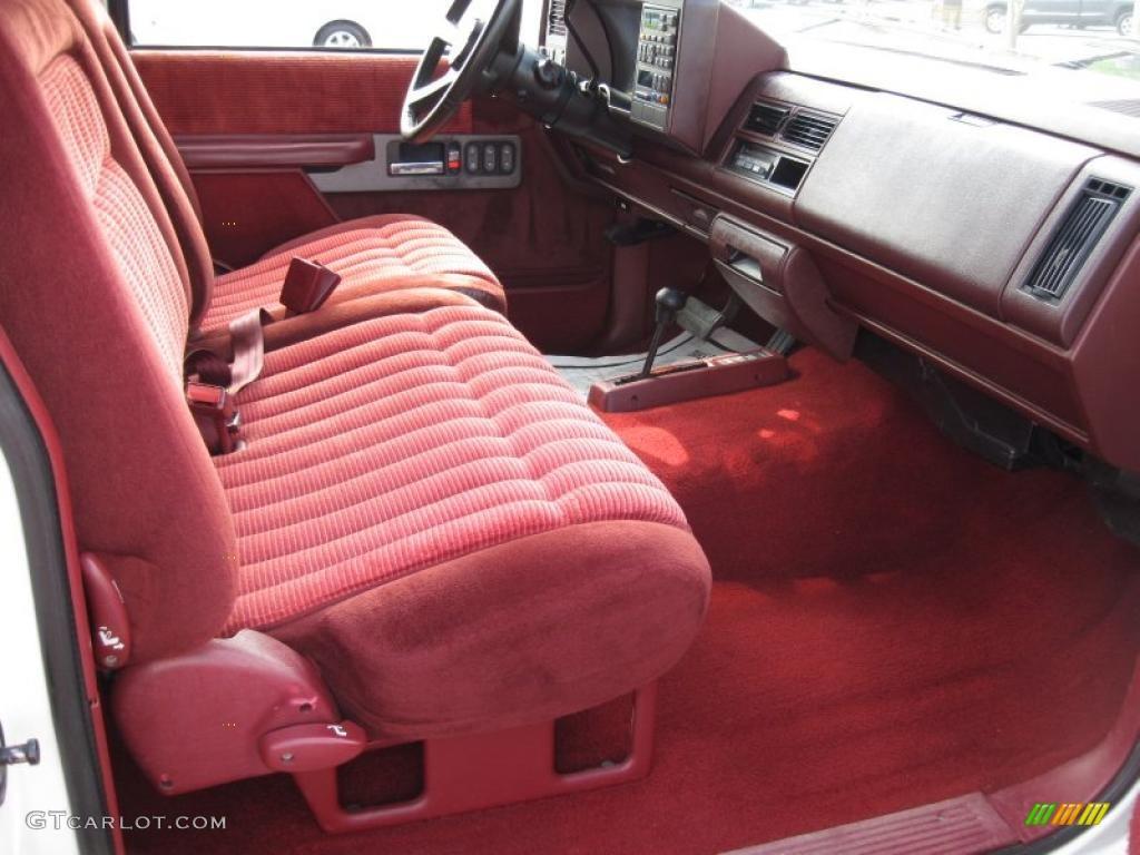 Red Interior 1994 Chevrolet C K K1500 Z71 Extended Cab 4x4