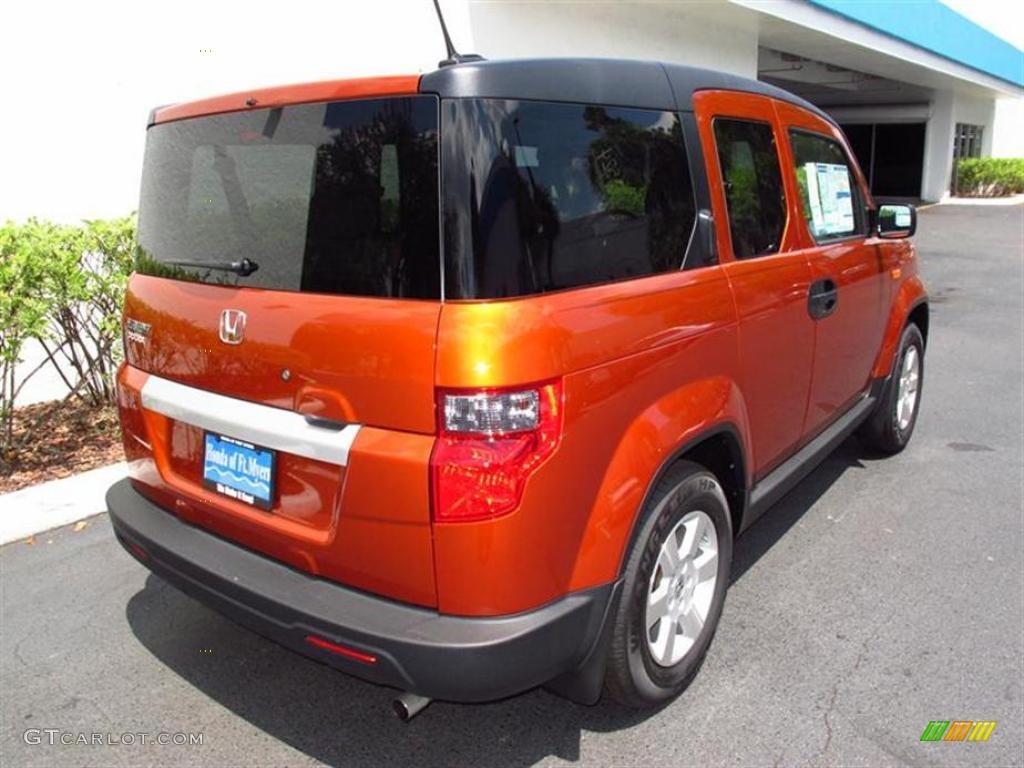 2011 Citrus Fire Metallic Honda Element Ex 49418129 Photo