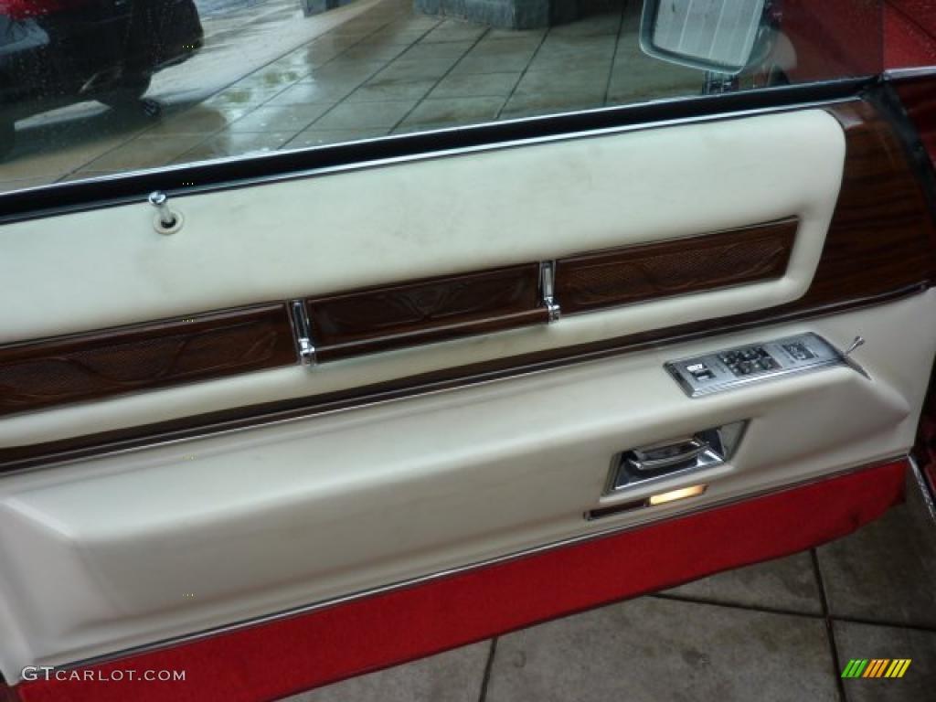 1976 Cadillac Eldorado Convertible White Door Panel Photo 49420498