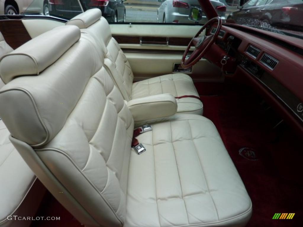 White Interior 1976 Cadillac Eldorado Convertible Photo 49420510