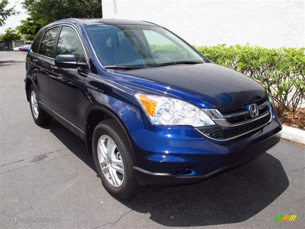 2011 CR-V EX - Royal Blue Pearl / Gray photo #1