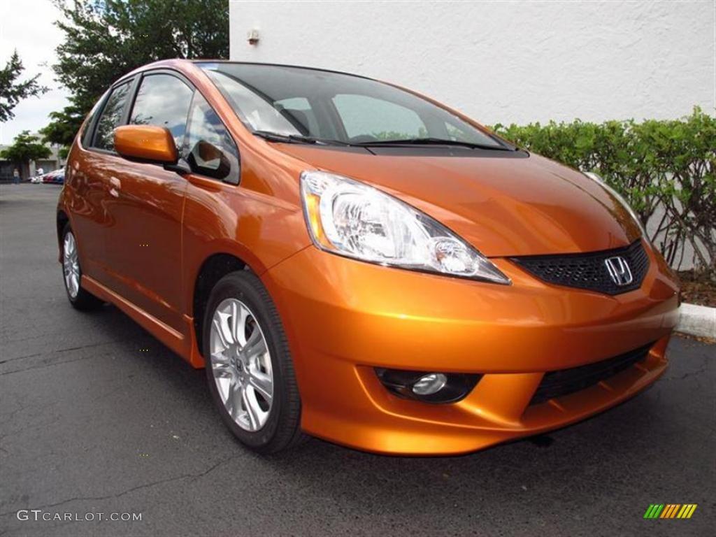 2011 orange revolution metallic honda fit sport 49418139 for Orange honda fit