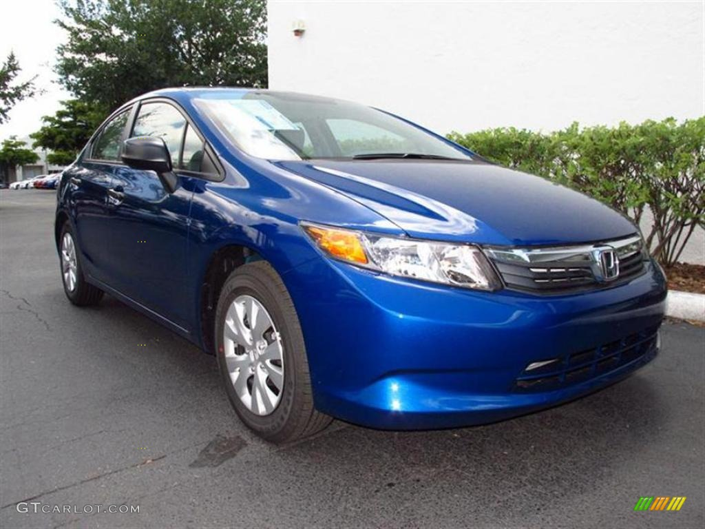 Dyno blue pearl 2012 honda civic dx sedan exterior photo for 2012 honda civic dx