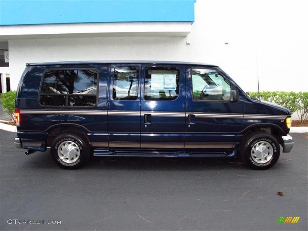 True Blue Metallic 2001 Ford E Series Van E150 Passenger Conversion Exterior Photo 49424131