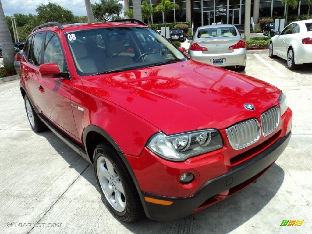 crimson red 2008 bmw x3 exterior photo 49424137. Black Bedroom Furniture Sets. Home Design Ideas