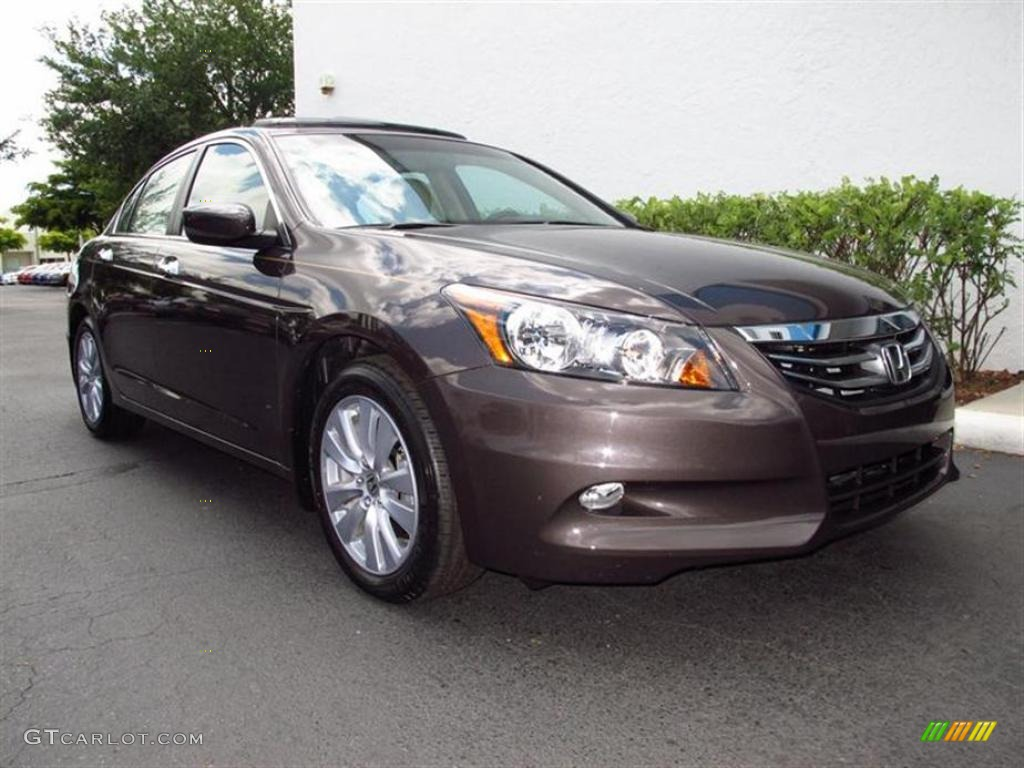 2011 Dark Amber Metallic Honda Accord Ex L V6 Sedan