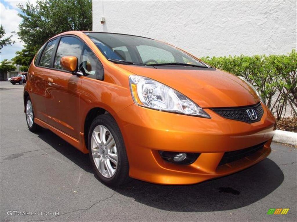 2011 orange revolution metallic honda fit sport 49418113 for Orange honda fit