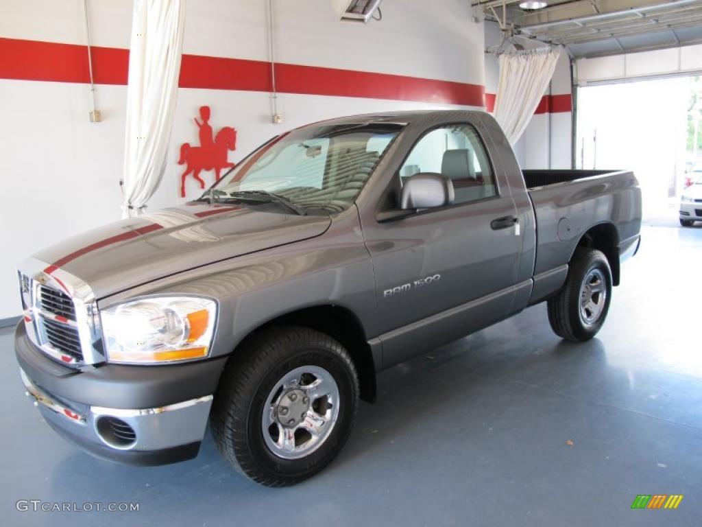 2006 Ram 1500 ST Regular Cab - Mineral Gray Metallic / Medium Slate Gray photo #1