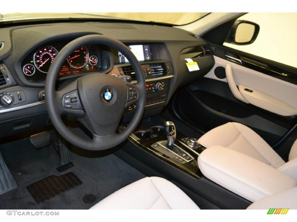 Oyster Nevada Leather Interior 2011 Bmw X3 Xdrive 28i