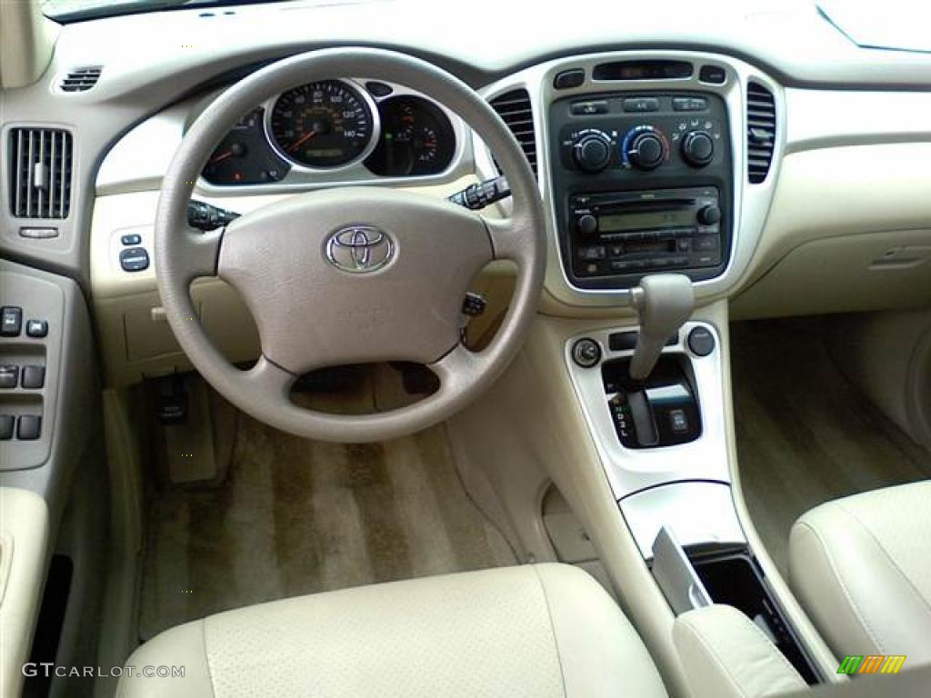 ivory beige interior 2007 toyota highlander standard highlander model photo 49498722. Black Bedroom Furniture Sets. Home Design Ideas