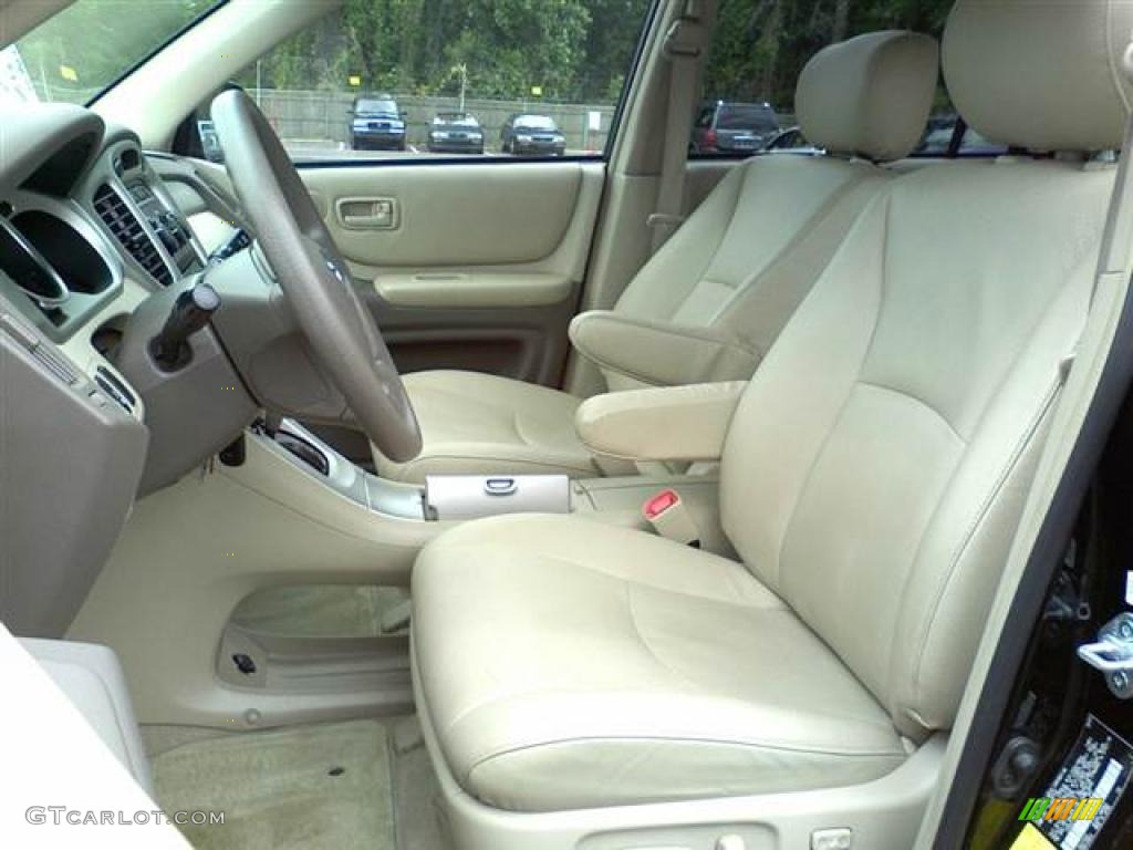 ivory beige interior 2007 toyota highlander standard highlander model photo 49498728. Black Bedroom Furniture Sets. Home Design Ideas