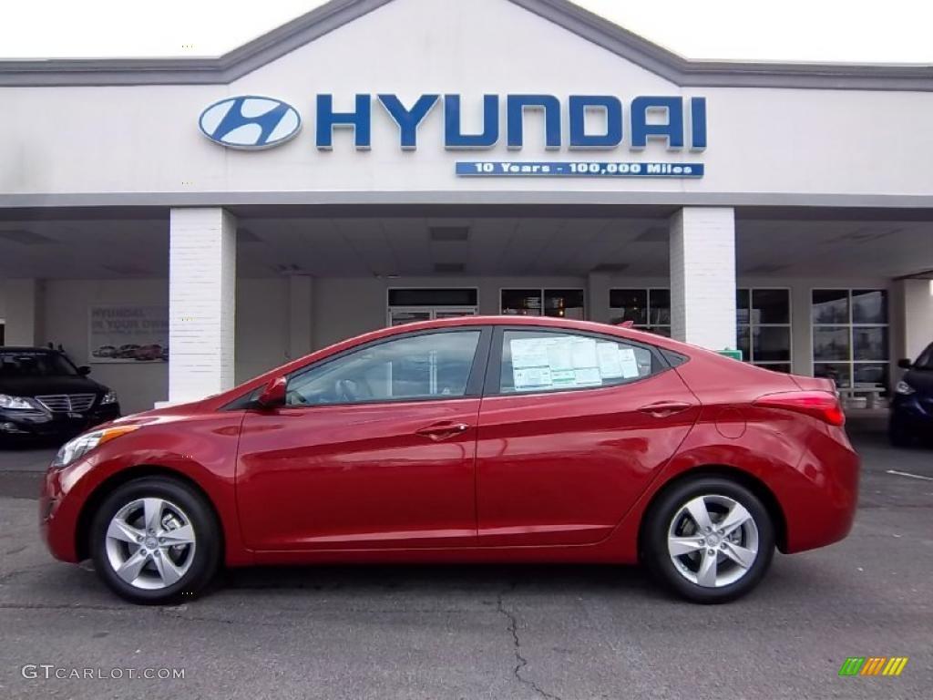 2011 Red Allure Hyundai Elantra Gls 49514544 Gtcarlot