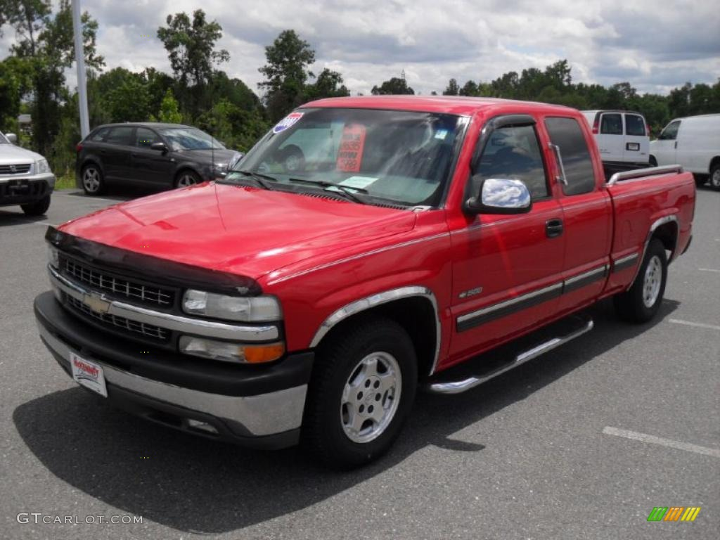 2000 Silverado 1500 LT Extended Cab - Victory Red / Graphite photo #1