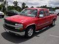 2000 Victory Red Chevrolet Silverado 1500 LT Extended Cab  photo #1
