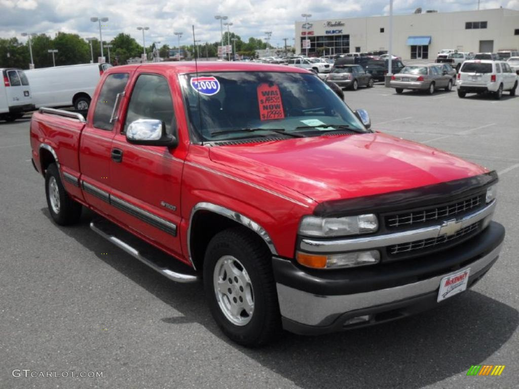 2000 Silverado 1500 LT Extended Cab - Victory Red / Graphite photo #5