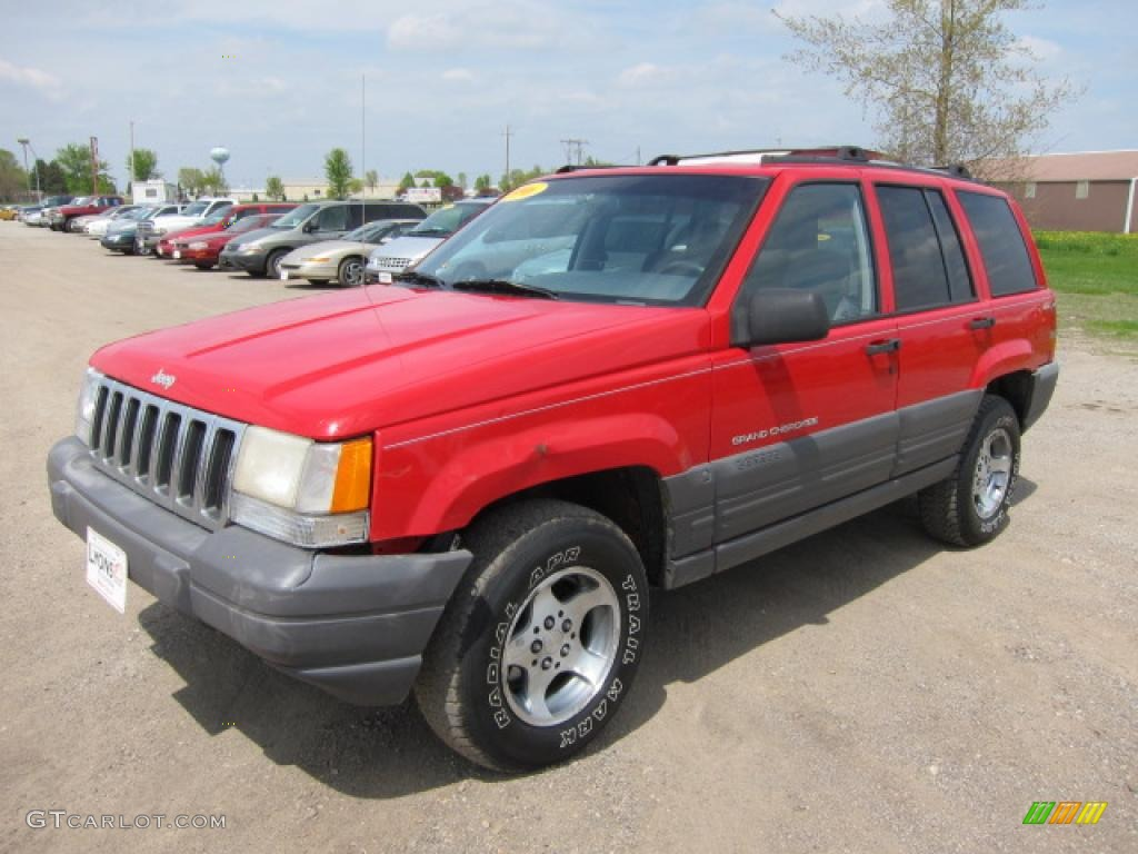 1996 flame red jeep grand cherokee laredo 4x4 49514203 photo 9 car color. Black Bedroom Furniture Sets. Home Design Ideas