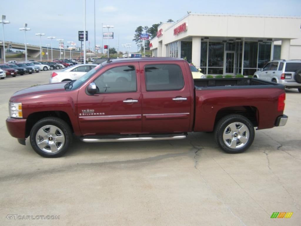 2009 Silverado 1500 LT Texas Edition Extended Cab   Deep Ruby Red Metallic  / Light Cashmere