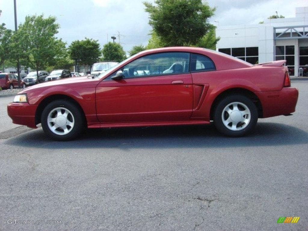 2000 Mustang V6 Coupe - Performance Red / Medium Parchment photo #3