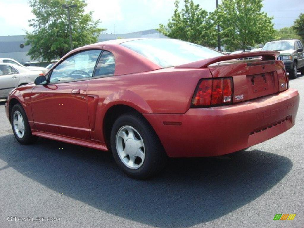 2000 Mustang V6 Coupe - Performance Red / Medium Parchment photo #4